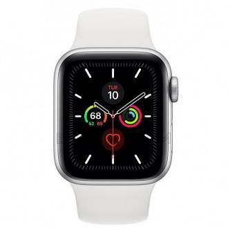 Смарт-часы Apple Watch Series 5 GPS 40mm Silver Aluminum Case with White Sport Band (MWV62)