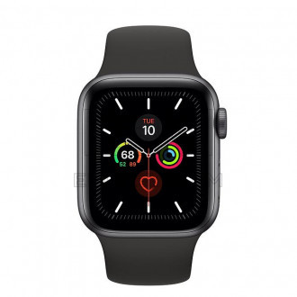 Смарт-часы Apple Watch Series 5 GPS 40mm Space Gray Aluminium Case with Black Sport Band (MWV82)