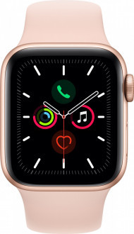 Смарт-часы Apple Watch Series 5 GPS 40mm Gold Aluminium Case with Pink Sand Sport Band (MWV72)