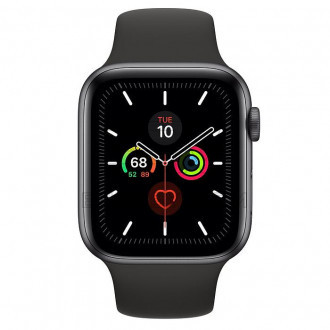 Смарт-часы Apple Watch Series 5 GPS 44mm Space Gray Aluminium Case with Black Sport Band (MWVF2)